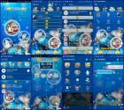 LINE主題 聖誕主題-哆啦A夢 繽紛藍