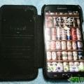 SAMSUNG Note2 iCarer 真皮磁扣吸附側掀皮套