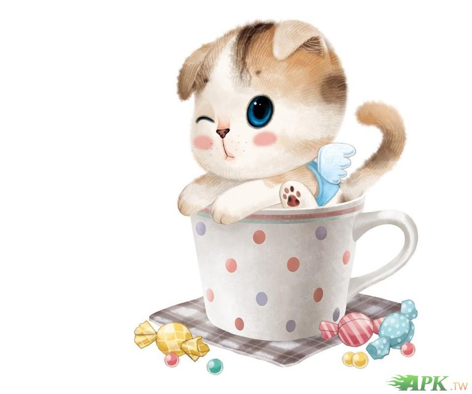 7878可爱の杯子猫咪7878静态壁纸7878