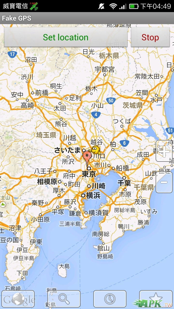 FAKE GPS 設定在日本
