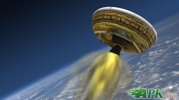 NASA新裝置 利用充氣飛碟登陸火星