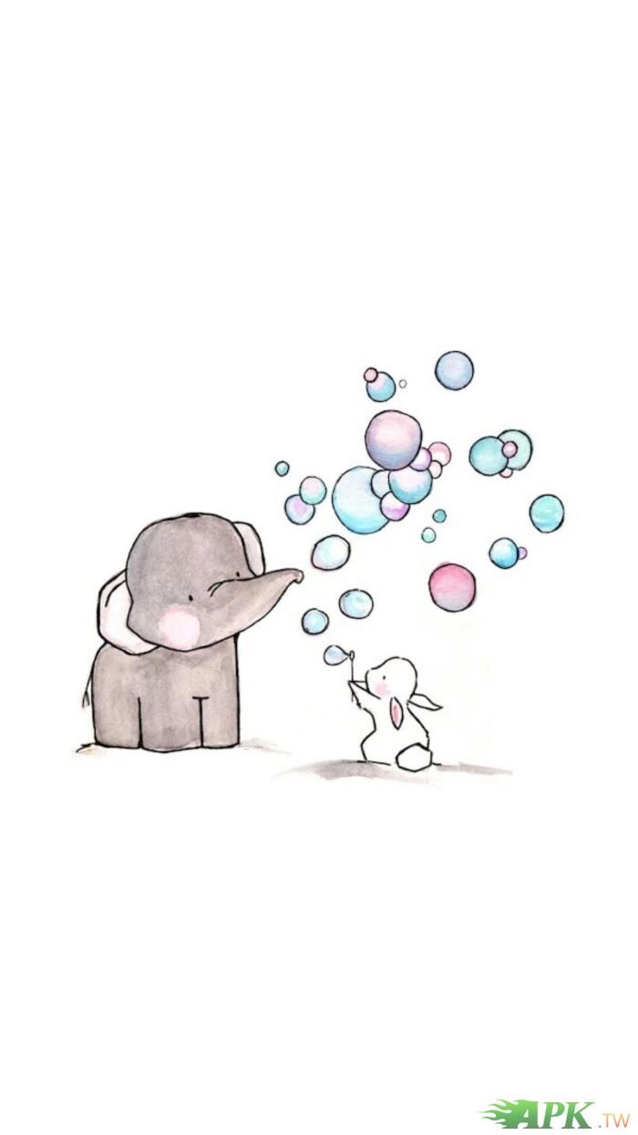 小灰象与小白兔来卖萌罗