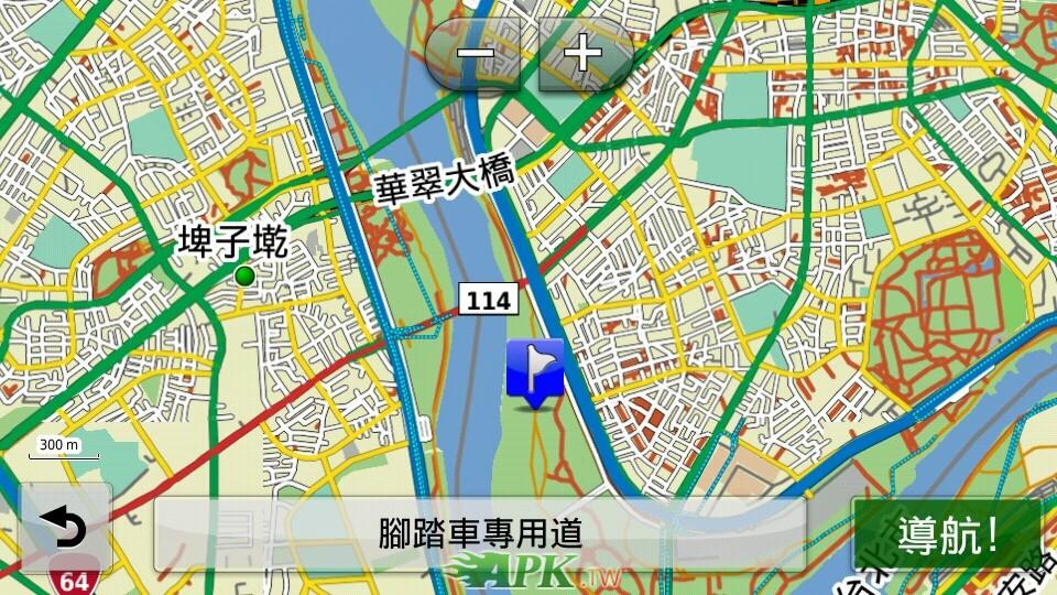 導航地圖含移動軌跡
