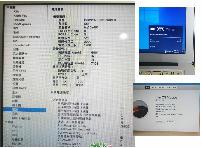 Apple MacBook Air雙系統+無線滑鼠+高級筆電包[可交換]