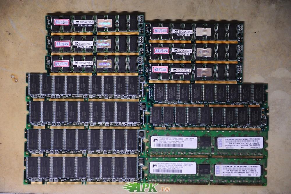 記憶體32MB、128MB及伺服器專用1GB DDR2 533MHz