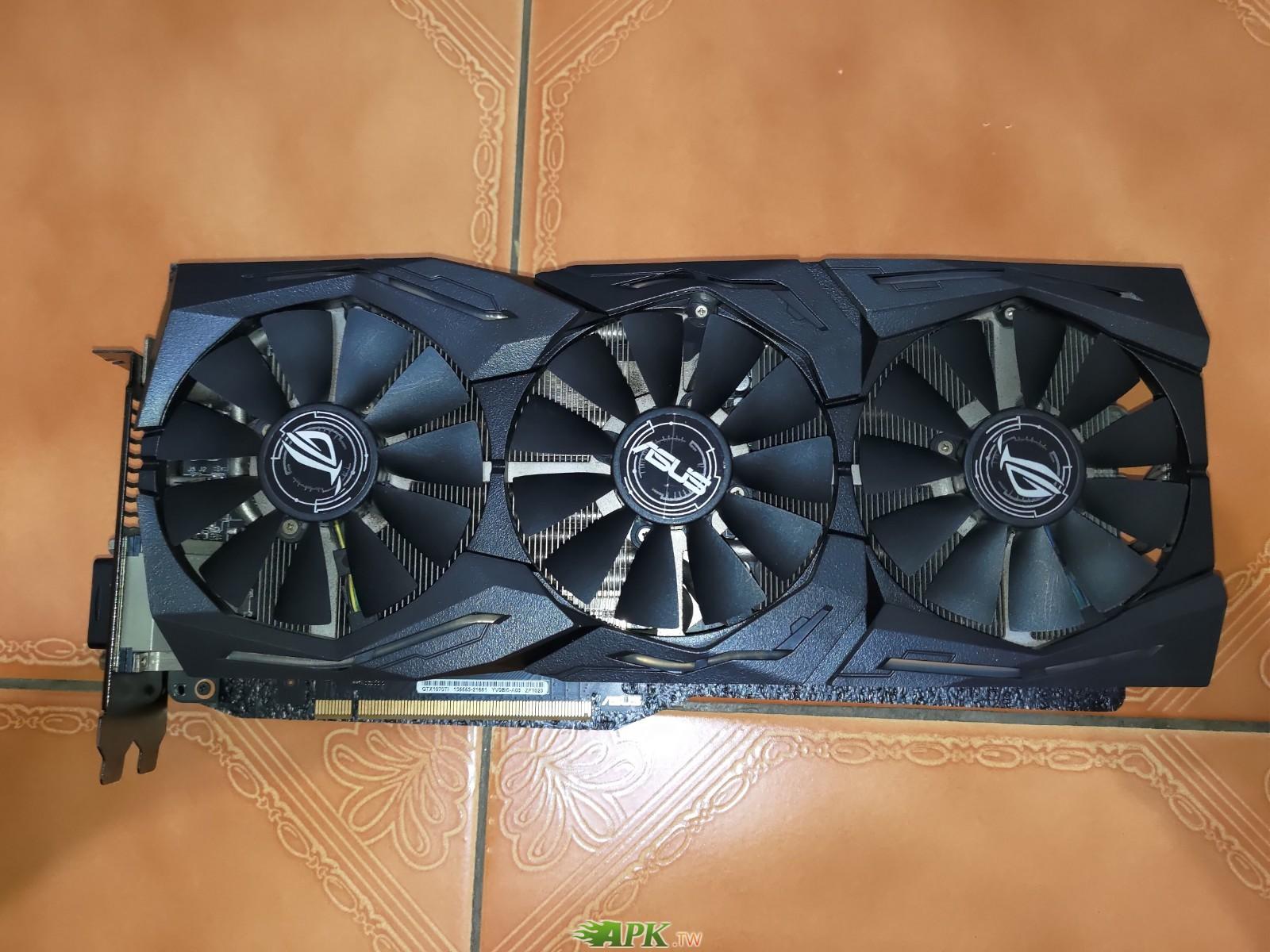 (二手) 華碩 ROG-STRIX-GTX1070TI-A8G-GAMING 非礦卡