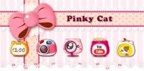 【女生主題】粉色貓咪 Pinky Cat GO Launcher Theme v2.0