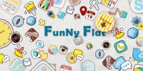 GO系列專用 Funny Flat GO Launcher Theme v1.0 解鎖版