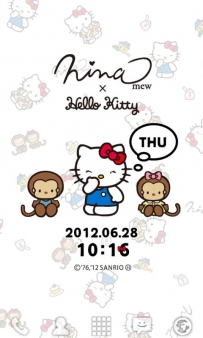 日本限定凱蒂貓時鐘(Ninamew×HELLO KITTY LWallpaper付費版)