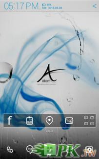 Atom Launcher免費主題-Aqua(4.0↑@1.1M@APK)