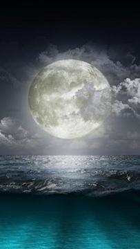 月光夜晚動態桌布(2.3↑@3.2MB)