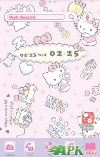 [+]HOME免費主題(台灣)-Hello Kitty小熊寶貝(2.1↑@757K@apk)