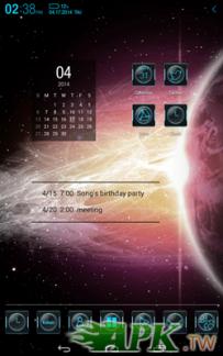 Atom Launcher免費主題-Galaxy(4.0↑@2.1M@APK)