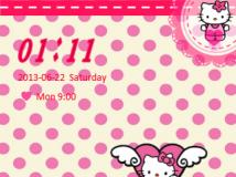 Go鎖屏(自制)-两款超可爱粉色系Kitty-保證让你爱不释手
