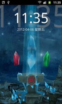 GO桌面-3D三仙石鎖屏主題(2.1↑@2.37MB@apk)