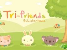 Go鎖屏-三个小朋友Tri-Friends