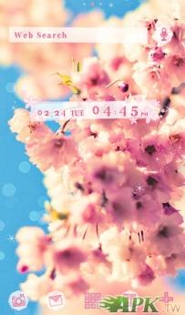 [+]HOME主題-櫻花天空(2.1↑@1.9M@APK)