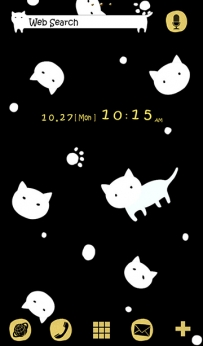 [+]HOME主題-黑點貓2(2.1↑@1.5M@APK)