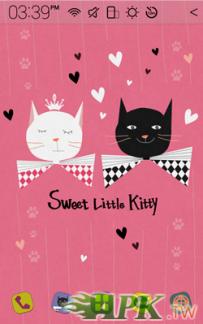 Atom Launcher免費主題-Sweet Kitty(4.0↑@1.5M@APK)