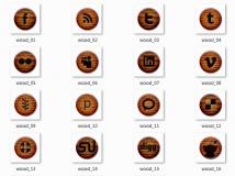 【堡兒分享】主題ICON:木紋按鈕系列 - 免費分享 !
