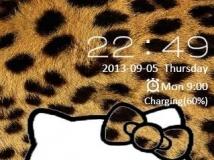 Go鎖屏(自制)-野性的豹纹Kitty