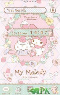 [+]HOME免費主題(台灣)-My Melody主題桌布粉彩草莓甜心(2.1...