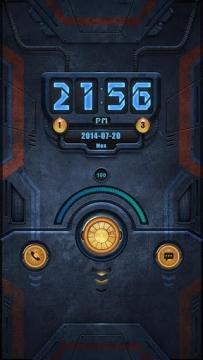 超炫鎖屏---質感機器鎖屏(1.6↑@2.8 MB @txt)