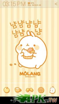 Atom Launcher免費主題-Molang Donut Yellow(4.0↑@388K@APK)