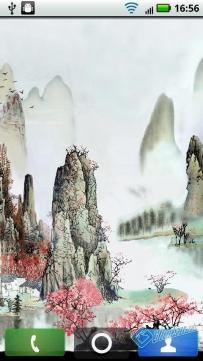 中國山水仙境水墨畫 v1.3【付費完整版】動態桌布