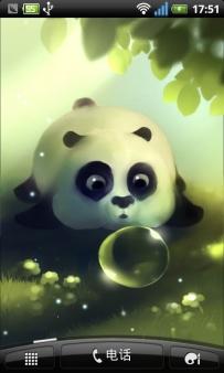 熊貓泡泡動態桌布